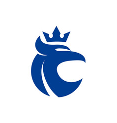 eagle king abstract logo icon vector image