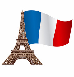 eiffel tower with flag vector image