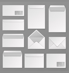 envelopes blank corporate closed and open vector image