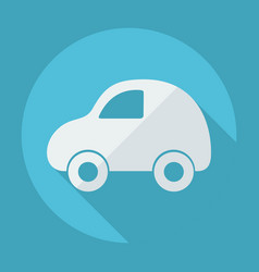 Flat modern design with shadow toy car vector