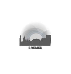 Germany bremen skyline vector