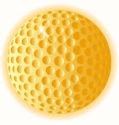 Gold golf ball vector