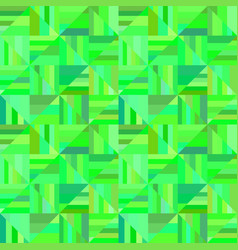 green abstract seamless striped triangle mosaic vector image
