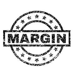 Grunge textured margin stamp seal vector