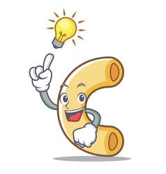 Have an idea macaroni mascot cartoon style vector