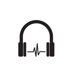 headphone icon graphic design template vector image
