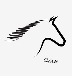 Horse silhouette isolated portrait icon vector
