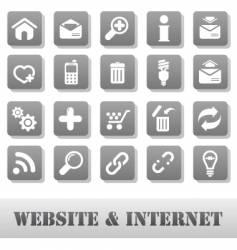 internet and website grey vector image