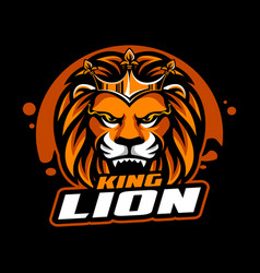 king lion mascot vector image