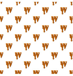 Letter w from caramel pattern vector