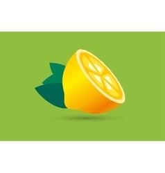 Lime or lemon fruit slice Lemonade juice logo vector image