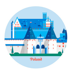 Malbork castle in polandtravel poland landmark vector