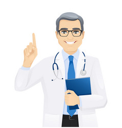 male doctor set vector image