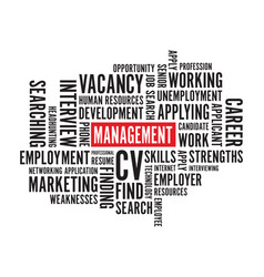 management text background vector image