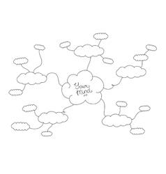 Mindmap hand drawn scheme infographic design vector image