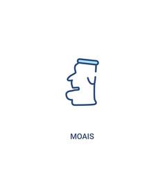 Moais concept 2 colored icon simple line element vector