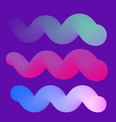 modern gradient wavy shapes vector image