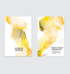 modern liquid flow artwork marble watercolor vector image