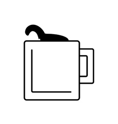 Mug capuccino coffee icon outline vector