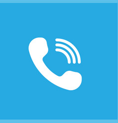 Phone icon isolated on blue background vector
