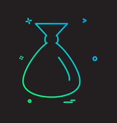 pouch icon design vector image