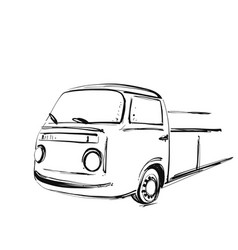 retro bus cartoon transport travel vector image