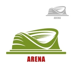 Round sport stadium or arena icon vector image