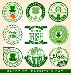 Saint Patrick Typographical Design Elements vector image