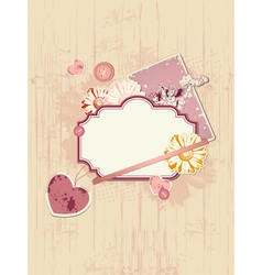 Scrapbooking kit for valentines day vector