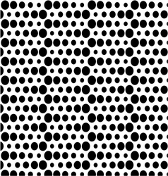 Seamless polka background vector