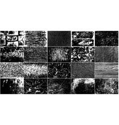 set grunge design elements vector image