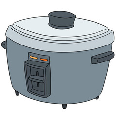 set of rice cooker vector image