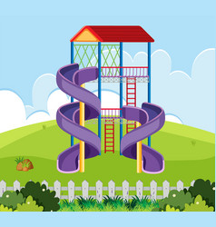 slide house in playground vector image