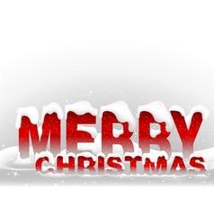 Snowy merry christmas vector