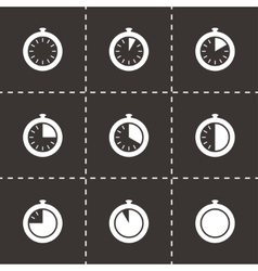 Stopwatch icon set vector