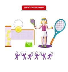 Tennis Tournament Concept vector