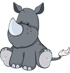 The stuffed toy rhinoceros cartoon vector