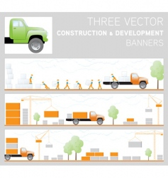 three construction and development ban vector image