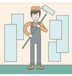 Window-cleaner vector image
