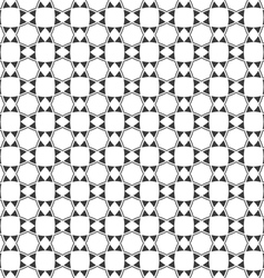 Abstract black and white seamless pattern in vector image vector image