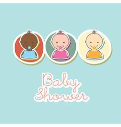 baby design vector image