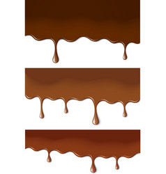 Chocolate stains vector image vector image