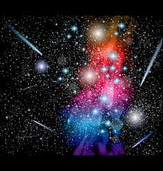 Milky Way Galaxy with rainbow colors vector image