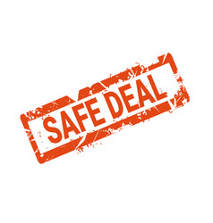 safe deal badge grunge seal or sticker icon vector image