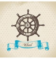 Ships wheel vector image vector image