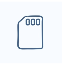 Sim card sketch icon vector image vector image