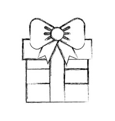 sketch draw fuchsia gift cartoon vector image