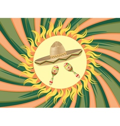 Sombrero and Maracas3 vector image