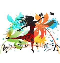 spring dancing vector image vector image