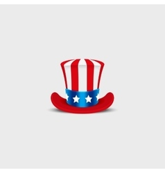 Uncle Sam hat on white background vector image